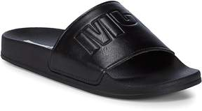 McQ Women's Embossed Open Toe Slides