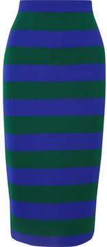 Joseph Striped Knitted Midi Skirt - Blue