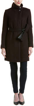 Andrew Marc Tristina Brushed Twill Wool-Blend Coat