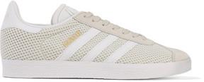 adidas Gazelle Suede-trimmed Primeknit Sneakers - Light gray