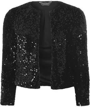 Dorothy Perkins Black Sequin Embellished Boxy Jacket