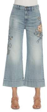 Driftwood Charlee Florence Wide-Leg Cropped Jeans