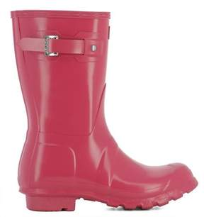 Hunter Women's Fuchsia Rubber Ankle Boots.