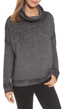 Caslon Women's Burnout Back Pleat Sweatshirt