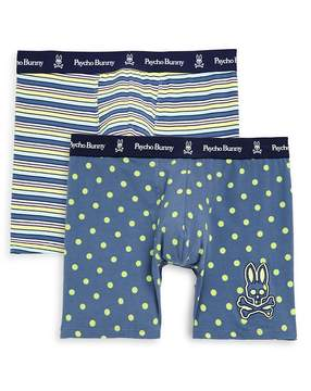 Psycho Bunny Men's Two-Pack Stretch Cotton Boxer Briefs
