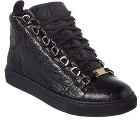 Balenciaga Arena High Top Leather Sneaker.