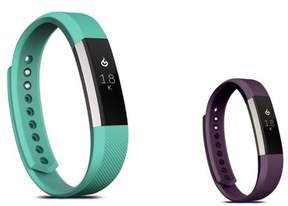 Fitbit Alta HR and Alta Replacement Bands SMALL Size 2 PCS BUNDLE SET, by Zodaca Soft Rubber Adjustable Wristbands Watch Band Strap For Alta HR / Alta SMALL Size - Mint Green + Purple