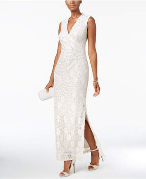 Connected Sequined Lace Gown