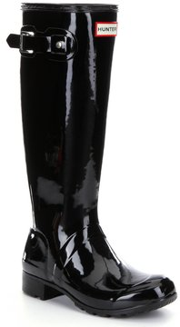 Hunter Womens Original Tour Gloss Buckle Strap Rain Boots