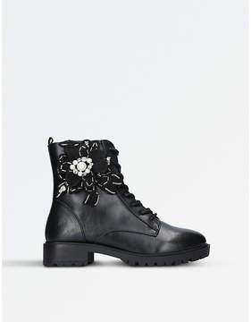 Miss KG Ladies Black Seren Military Boots