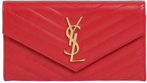 Saint Laurent Quilted Monogram Large Flap Wallet