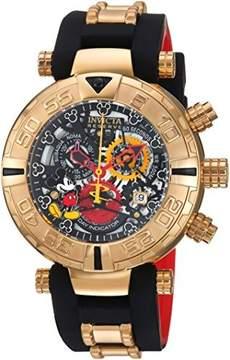 Invicta Men's 'Disney Limited Edition' Quartz Metal and Silicone Casual Watch, Color:Black (Model: 22734)