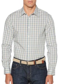Perry Ellis Check Casual Button-Down Shirt