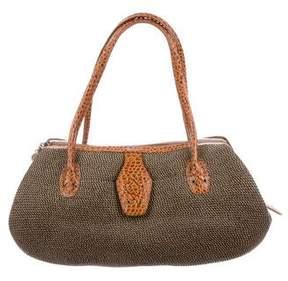 Eric Javits Raffia Leather-Trimmed Handle Bag