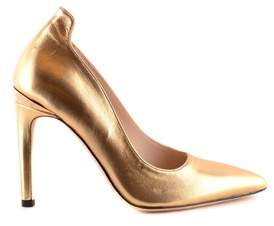 Pinko Women's Gold Leather Pumps.