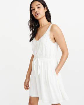 Abercrombie & Fitch Tie-Waist Tank Dress