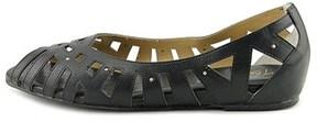 Thalia Sodi Zuly Women Open-toe Synthetic Gold Flats.