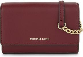 MICHAEL Michael Kors Michael Kors Ladies Velvet Embossed Luxury Ruby Leather Clutch Bag - VELVET - STYLE
