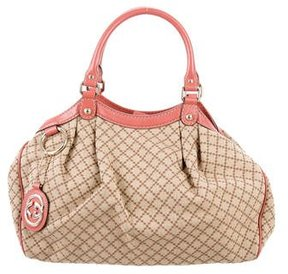 Gucci Medium Diamante Sukey Tote - BROWN - STYLE