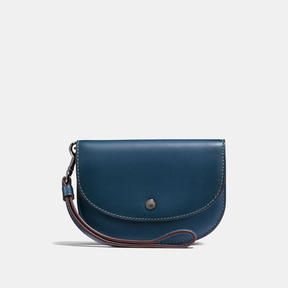 COACH Coach Double Pouch In Colorblock - DARK GUNMETAL/DENIM - STYLE