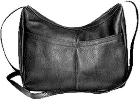 Women's David King Leather 1034 Top Zip Hobo