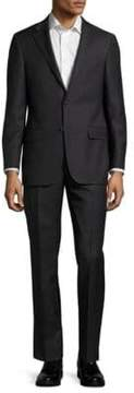 Hickey Freeman Milburn Solid Wool Suit