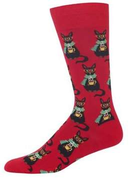 Hot Sox Coffee Cat Socks