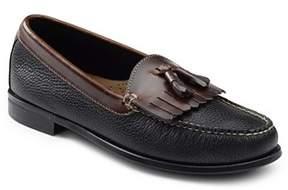 G.H. Bass & Co & Co. Mens Carter Kiltie Tassel Black & Brown Leather Dress Loafer Shoe.