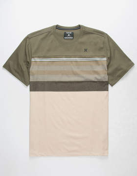 Hurley Strands Coves Mens Olive T-Shirt