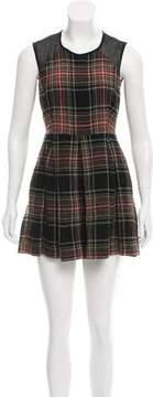 Markus Lupfer Plaid Mini Dress