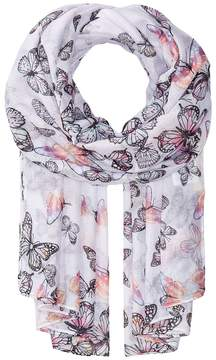 San Diego Hat Company BSS1735 Woven Scattered Butterfly Print Scarves