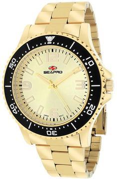 Seapro SP5333 Men's Tideway Gold Stainless Steel Watch