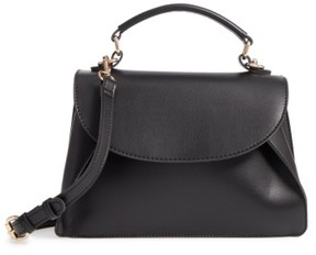Sole Society Izzy Faux Leather Top Handle Satchel - Black