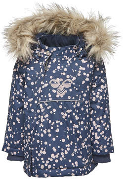 Hummel Navy Splash Jessie Jacket with Faux Fur