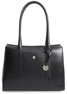 Lodis Business Chic Paula Rfid-Protected Coated Leather & Suede Brief Shoulder Bag - Black
