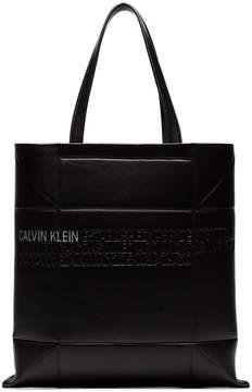 Calvin Klein small geometric leather tote bag
