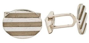 Tiffany & Co. Grooved Oval Cufflinks