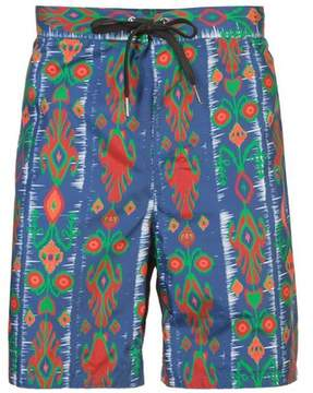Cynthia Rowley | Damian Aztec Printed Board Short | Xl | Blue