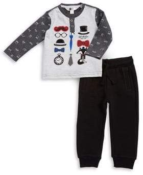 Petit Lem Baby Boy's Two-Piece Lil' Mister Top & Pants Set