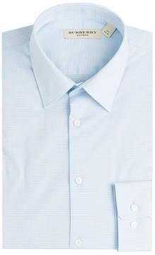 Burberry Micro Check Print Cotton Shirt