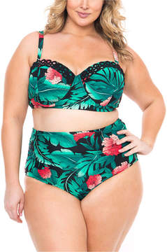 Boutique + + Bra Swimsuit Top-Plus