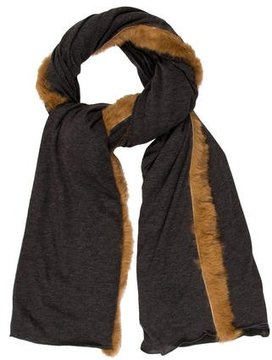 Donni Charm Fur-Trimmed Scarf w/ Tags