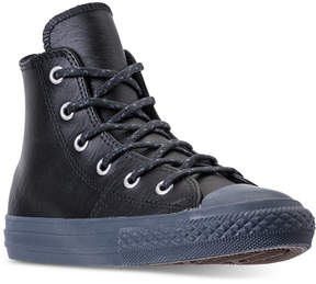 Converse Little Boys' Chuck Taylor Leather N Thermal High Top Casual Sneakers from Finish Line