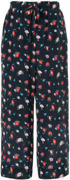 ESTNATION high-waisted floral trousers