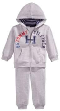 Tommy Hilfiger Infant Boys 2 Piece Gray Hoodie Jacket & Sweat Pants Set 24m