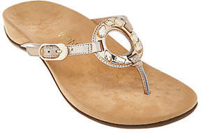 Vionic Orthotic Leather Thong Sandals -Ricci