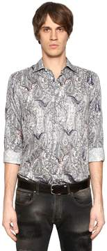 Etro Bats & Paisley Cotton Shirting Shirt