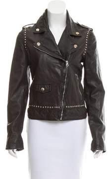 Pinko Leather Studded Jacket