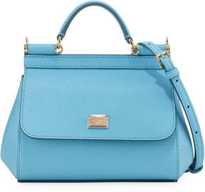 Dolce & Gabbana Sicily Micro Leather Crossbody Bag, Blue - BLUE - STYLE