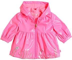 Billieblush Glittered Print Pvc & Pile Raincoat